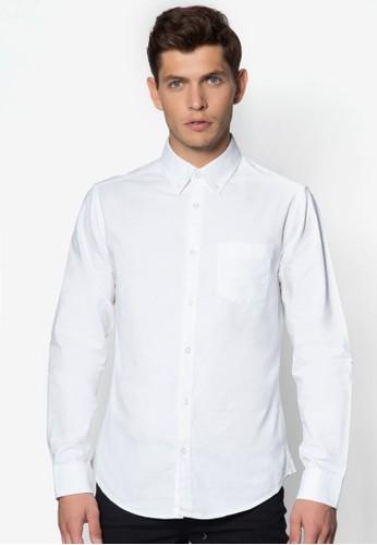 牛zalora 台灣門市津長袖襯衫, 服飾, 素色襯衫