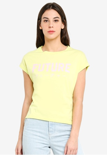 UniqTee yellow Future Boxy Tee 6F5DDAA7B92874GS_1