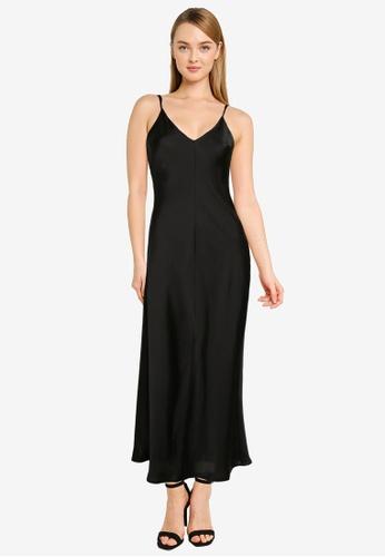 Free People black Smoke & Mirrors Midi Slip Dress D636EAA4236843GS_1