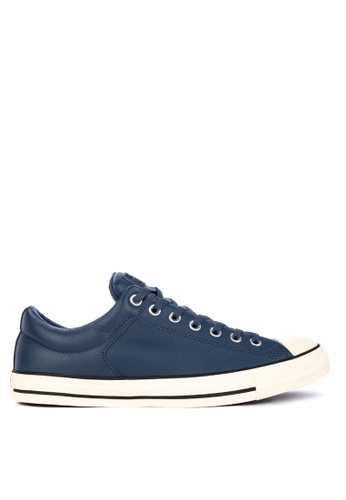 Converse blue Chuck Taylor High Street Postgame Leather Sneakers 0B2A8SH77C1838GS_1