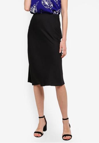 3a05fc02505584 Buy Dorothy Perkins Black Bias Satin Midi Skirt Online | ZALORA Malaysia