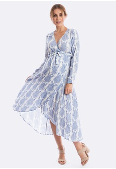 a4843bdee9843 Maive & Bo Harlow Maternity Dress in Vintage Belle (Long Sleeve) S$ 72.00.  Sizes S M L XL