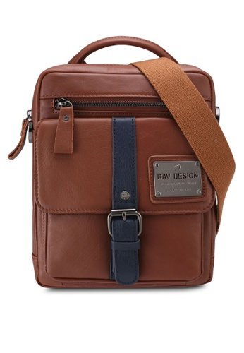 RAV Design brown Leather Sling Bag 4233BACFA9C952GS_1