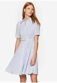 fa1f4f6179641 ESPRIT blue Woven Mini Dress 344A0AA6E1C774GS_1