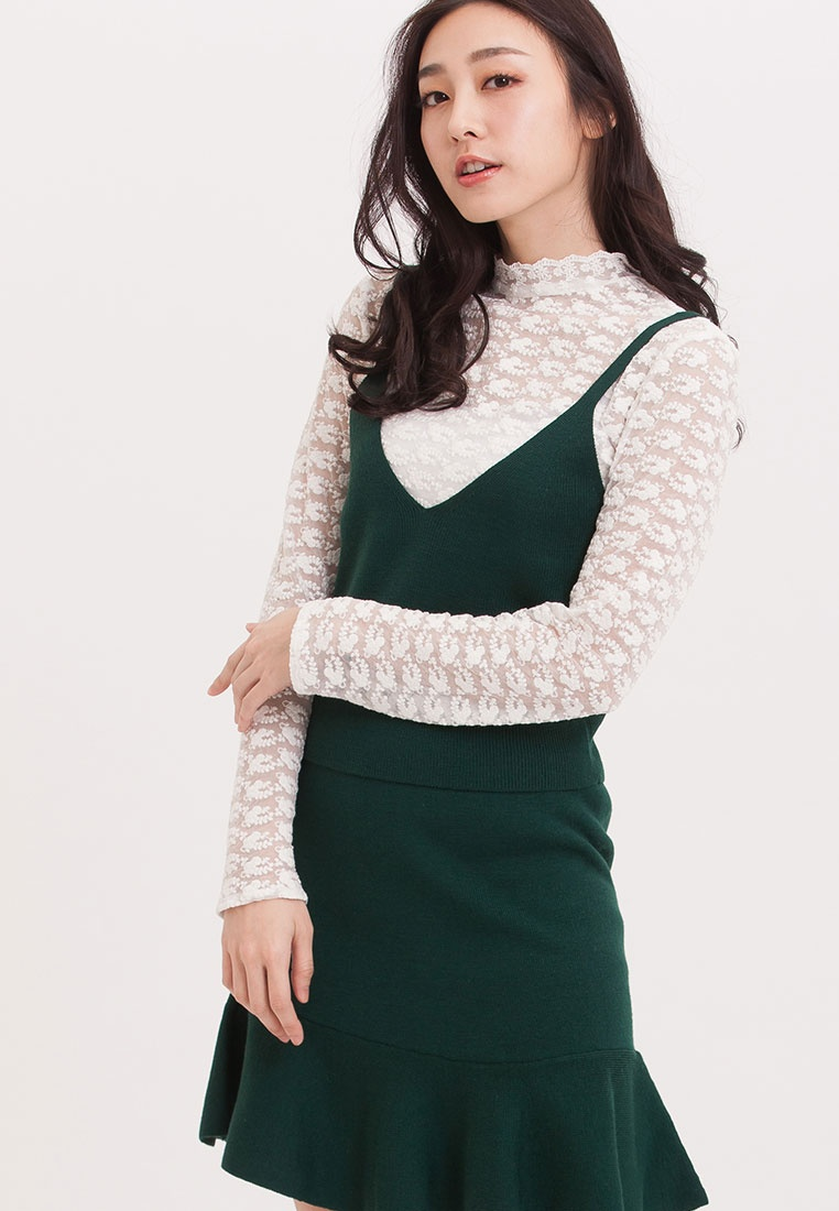 H Dress Green Piece Two Cut CONNECT Mermaid S0ZxzqIqn