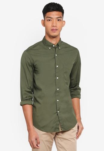 J.Crew green Men's Slim Stretch Secret Wash Solid Poplin Shirt 3C0F5AAFC03797GS_1