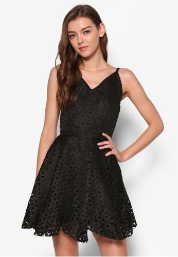 鐳射蕾絲細肩帶傘擺洋裝, 服飾,esprit台灣 絕美洋裝