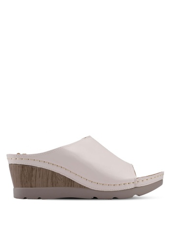 Alfio Raldo white Slip On Mule Wedges B6545SH79D6EF7GS_1