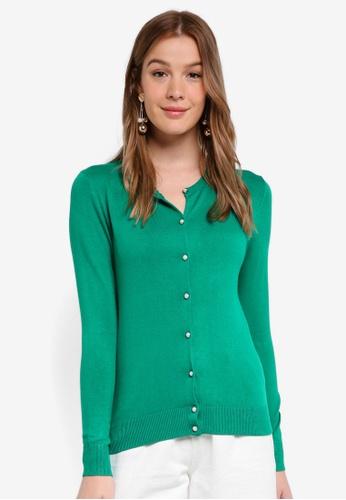 Dorothy Perkins green Green Viscose Cardigan B2016AA3EC10BCGS_1