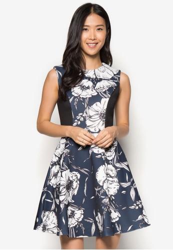 花卉圖案傘zalora 評價擺洋裝, 服飾, 正式洋裝