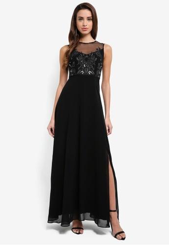 Forever New black Carissa Lace Bodice Maxi Dress B27C0AA72F7A6CGS_1