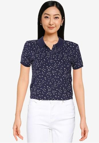 Springfield blue Organic Cotton Polo Shirt 64EE1AAE598D59GS_1
