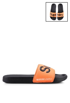 289ec89a9b3c Superdry black Superdry Pool Slides E4129SHACCFCC2GS 1