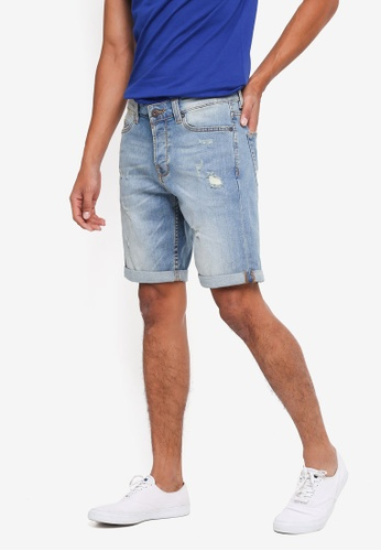 Only & Sons blue Ply Shorts 0C125AA62457FCGS_1