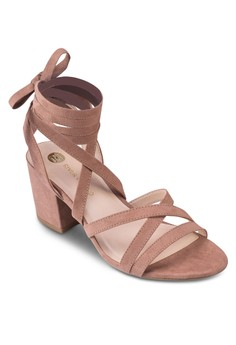 Soft Tie Heel Sandals