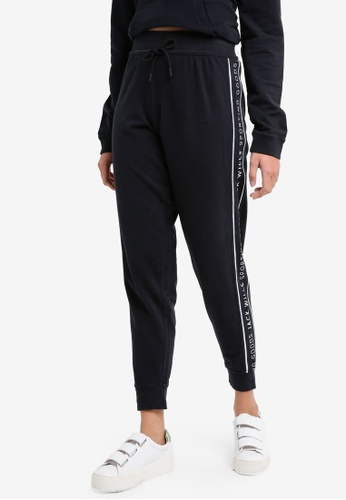 Jack Wills black Stenton Branded Joggers 51A50AA985F117GS_1