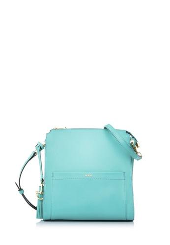BONIA green Mint Crocuet Crossbody Bag M E7149AC51D5095GS_1