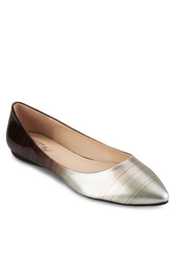 Play! Kimmy 漸esprit sg層雙色尖頭平底鞋, 女鞋, 芭蕾平底鞋