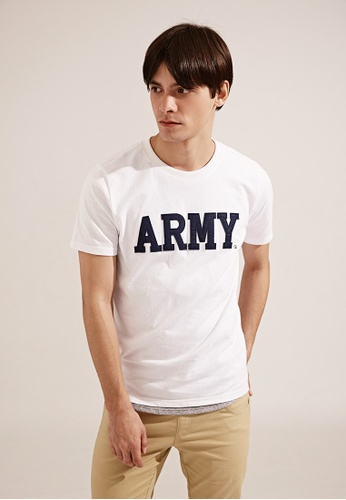 Life8 white Edit Product Army Style Crew Neck T-Shirt - 03782 - White LI283AA15TEASG_1