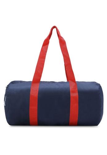 Herschel red and navy Packable Duffel Bag HE114AC0REE6MY_1