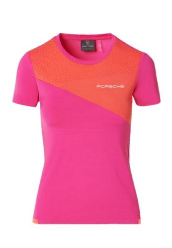 Porsche Driver's Selection pink Pink Orange Colorblock Ladies Sports Tee Porsche T-Shirt For Women Golf 7D726AAA92804AGS_1