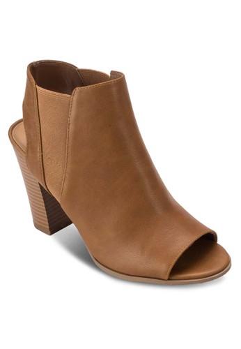 Caduwia 露趾木製粗跟踝靴, esprit outlet台北女鞋, 俏皮男孩風