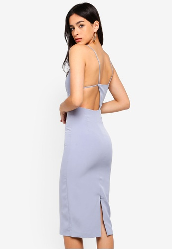 Bardot blue Open Back Dress F2A5AAA44CEB42GS_1