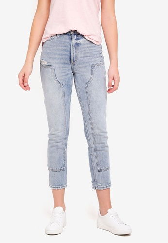 Abercrombie & Fitch blue Patch Jeans CEADDAA59BC431GS_1