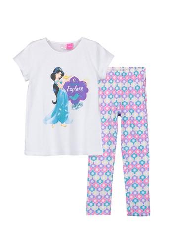 LC Waikiki white Girl's Jasmine Cotton Pyjamas Set 639C4KA06129CAGS_1