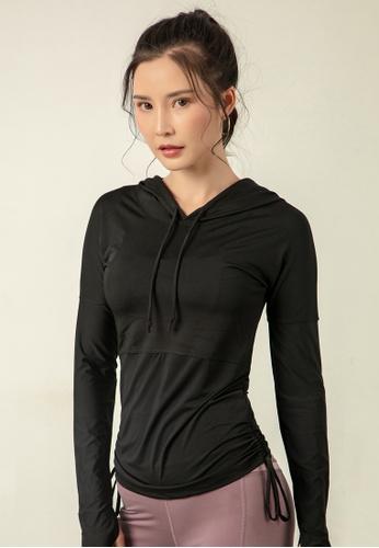 HAPPY FRIDAYS Women's Elastic Running Hoodie DK-WT12 35718AACC42991GS_1