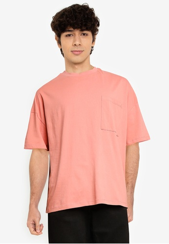 Electro Denim Lab pink Pocket Oversize Tee 142BAAAD7F5CE8GS_1