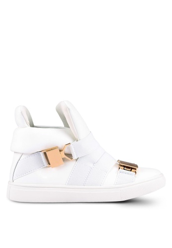 addicts anonymous white Addo Buckle High Cut Sneakers AD479SH0RL62MY_1