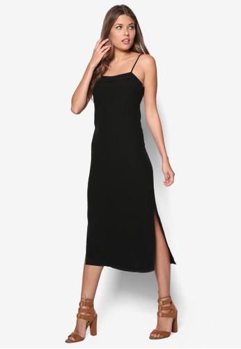 90s 側開esprit tst衩細肩帶洋裝, 服飾, 服飾