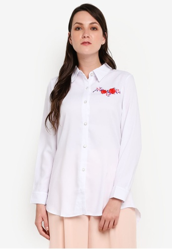 BYN white Embroidery Shirt 2FAC8AADFE6985GS_1