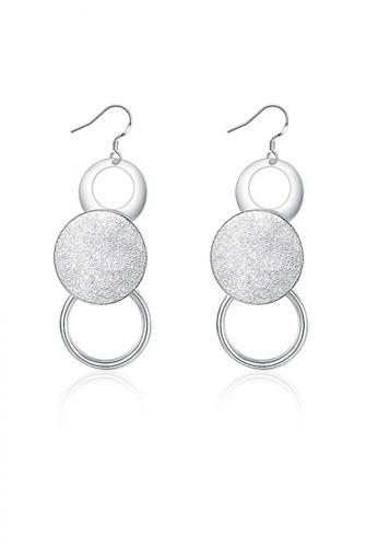 Glamorousky silver Simple Round Earrings FC264ACA38FD97GS_1