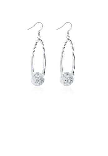Glamorousky silver Elegant and Simple Round Bead Earrings 0A805ACA7E5E88GS_1