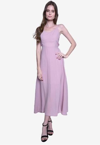 Caoros pink Basic Sleeveless Backless Dress F63A1AA5070291GS_1