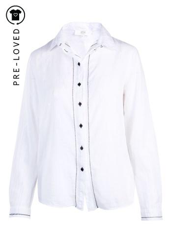 Athé Vanessa Bruno white Pre-Loved athe vanessa bruno White Cotton Shirt 170AAAAE32BDD7GS_1