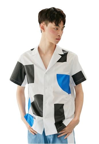 Bonnie&Blanche white Block Summer Shirt BO457AA0GII6SG_1