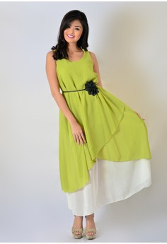 AW Maxi Chiffon Double with Belt