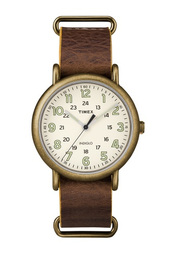 TIMEX brown Timex Weekender™ Oversized - TW2P85700 TI205AC0RET8MY_1