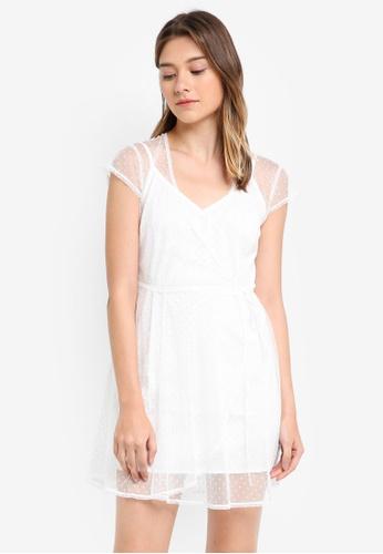 Something Borrowed pink Sheer Wrap Dress 18C64AA18EA6D9GS_1