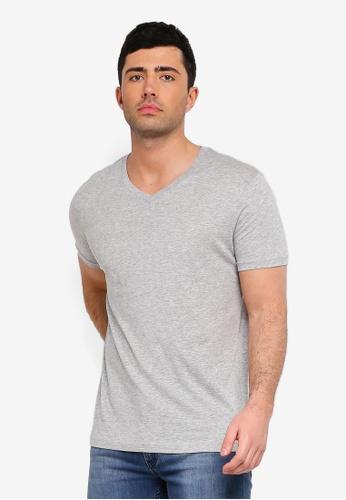 6b332df94439 Brave Soul grey Saint V Neck T-Shirt E39A3AADDB91B4GS_1. CLICK TO ZOOM