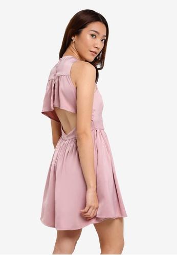 Something Borrowed pink Ruffle Edge Cut Out Dress 625B1AA685EF13GS_1