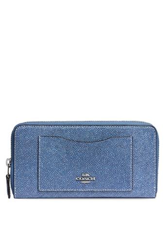 Coach blue Accordion Zip Wallet (cv) E8082AC7DE28BFGS_1