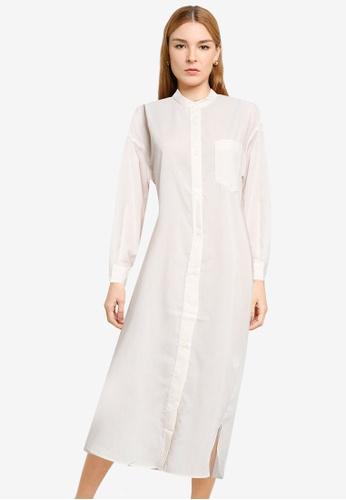 LOWRYS FARM white Midi Shirt Dress 2435DAA603080AGS_1