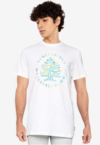 Springfield beige Logo T-Shirt 255E5AABB8F1D8GS_1