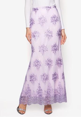 蕾絲喇叭長裙,esprit tote bag 服飾, 裙子
