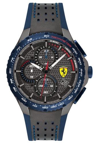 Buy Scuderia Ferrari Scuderia Ferrari Pista Grey Blue Men S Watch 830735 Online Zalora Malaysia