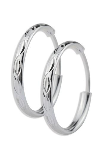 SC Tom Silver silver Ladies Loop Earrings- TEL006 SC872AC18CDHPH_1
